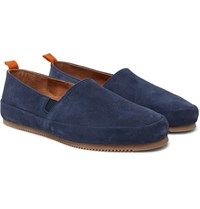 Mulo Suede Driving Shoes Blue