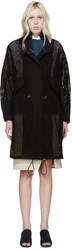 3.1 Phillip Lim Black Broderie Anglaise Layered Coat