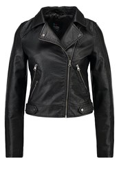 Evenandodd Faux Leather Jacket Black
