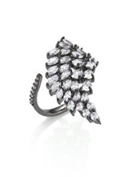 Fallon Monarch Cluster Wing Ring Silver