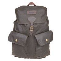 Barbour Wax Cotton Beaufort Backpack Olive