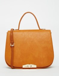 Marc B Large Saddle Bag In Ginger Ginger Tan