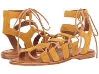 Frye Blair Side Ghillie Yellow Soft Oiled Suede Women's Dress Sandals