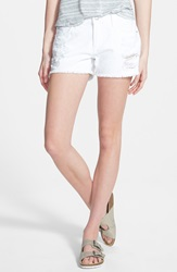 Articles Of Society 'Madre' Distressed Denim Shorts Off White