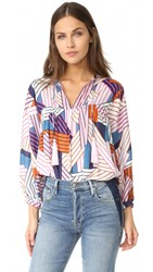 Cooper And Ella Bridgit Tunic Geometric Stripes