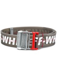 Off White Lettering Logo Print Belt Black