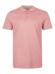 Topman Pink Slim Fit Polo Shirt