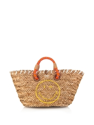 Anya Hindmarch Wink Small Straw Beach Bag