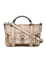 Proenza Schouler Embossed Python Ps1 Tiny Pink And Purple