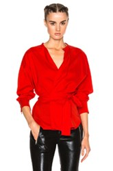 Isabel Marant Dorcey Silk Top In Red