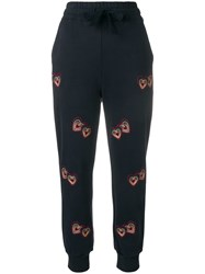 Chinti And Parker Heart Print Track Pants Blue