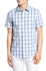 Ben Sherman Men's Mod Fit Ombre Plaid Shirt Staples