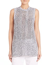 Theory Meenaly E. Iras Knit Tunic White Black