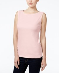 Karen Scott Petite Boat Neck Tank Top Only At Macy's Blush