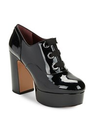 Marc Jacobs Beth Patent Leather Platform Heels Black