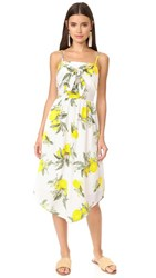 Moon River Front Detailed Camisole Dress Yellow Multi