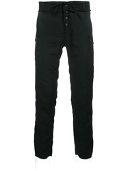 Christian Dada Drawstring Corduroy Detail Pants Black