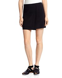 Halston Heritage Faux Wrap Mini Skirt Black