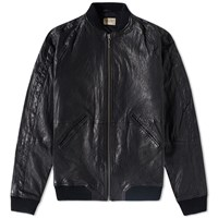 Nudie Jeans Brook Leather Bomber Black