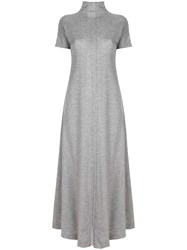 Maison Martin Margiela Belt Wrap Long Flared Dress Grey