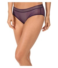 Dkny Signature Bikini Plum Fishnet Women's Underwear Purple