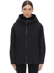 Liska Hooded Jacket W Fur Lining Black