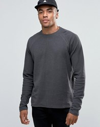 Solid Longline Sweatshirt With Raglan Sleeve Grey 2890