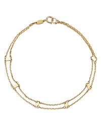 Moon And Meadow Doubled Chain Bar Bracelet In 14K Yellow Gold 100 Exclusive