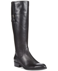 Easy Spirit Domina Wide Calf Boots Women's Shoes Black