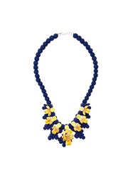 Ek Thongprasert Stone Embellished Necklace Blue