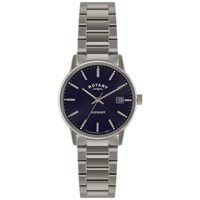Rotary Gb02874 05 Men's Avenger Stainless Steel Bracelet Strap Watch Silver Navy