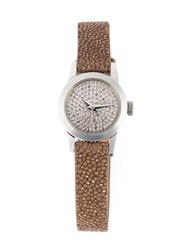 Christian Koban 'Cute' Diamond Watch Brown
