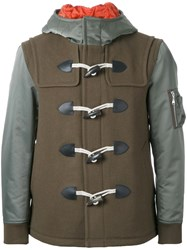 Guild Prime Hooded Duffle Coat Green