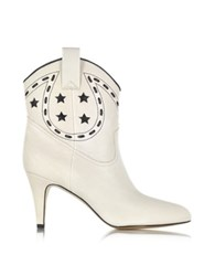 Marc Jacobs Georgia Ivory Leather Cowboy Boot
