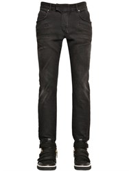 Balmain 17Cm Biker Light Washed Stretch Jeans