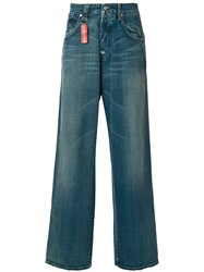 Armani Jeans Wide Leg Men Cotton 48 Blue