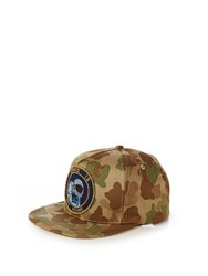 Saint Laurent Space Is My Home Camouflage Cap Khaki