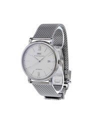 Iwc 'Portofino Automatic' Analog Watch Stainless Steel