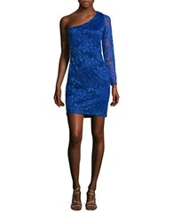 Guess One Sleeved Lace Sheath Dress Cobalt