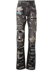 Unravel Project Distressed Patchwork Jeans 60