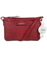 Kenneth Cole Reaction Mini Crossbody With Earbuds And Built In Rfid Protection Baked Apple