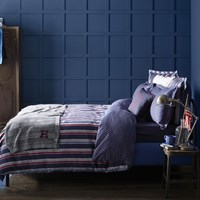 Tommy Hilfiger Preppy Look Striped Duvet Cover Indigo Blue