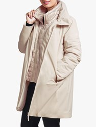 Four Seasons Double Layer Three Quarter Length Coat Natural