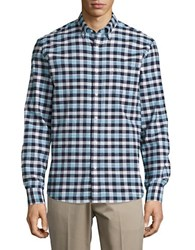 Black Brown Checkered Sportshirt Sapphire Blue