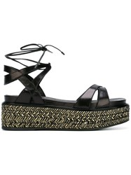 Sergio Rossi Strappy Platform Sandals Black