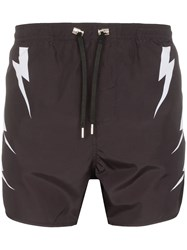 Neil Barrett Tiger Bolt Print Swim Shorts 60