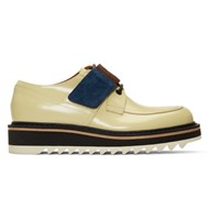 Dries Van Noten Ecru Strap Derbys