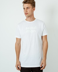 A Question Of Seoul Man Crew Neck T Shirt White