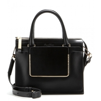 Roger Vivier Shopping U Small Leather Tote Black