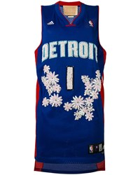 Night Market Detroit Embroidered Nba Tank Women Polyester One Size Blue